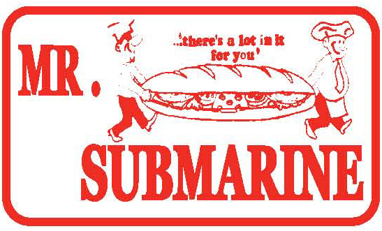 Mr. Submarine logo, click for menu.